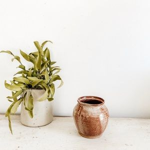 Medium brown vase